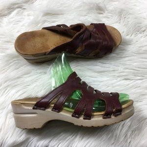 Dansko Sandals Leather Strappy Size 8
